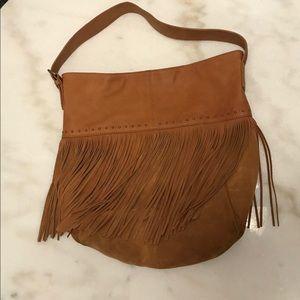 Lucky Brand Tan Fringe Shoulder Bag